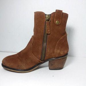 Steve Madden Windey Brown Rust Suede Boots Sz 6.5